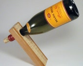 Cherry and Tiger Maple Wine Bottle Balancer- Reserved for Wendy