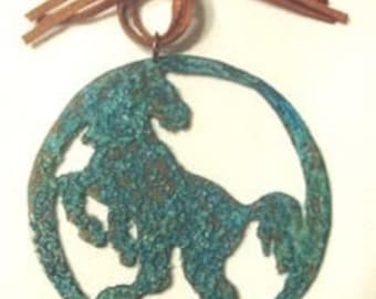 ORNAMENT - Stallion Rough Cut Copper