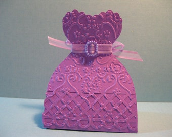 Set of 10 Princess Party Favor Boxes - Bridesmaid Dress Wedding Favor Boxes - Bridal Shower Favor Boxes - Quince or Quinceanera Favor Boxes