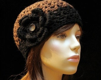 Black and Brown Hat