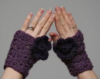 Light Purple Fingerless Gloves