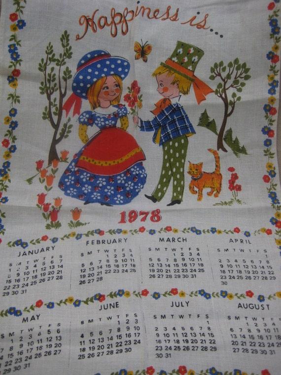 1978 Towel Calendar