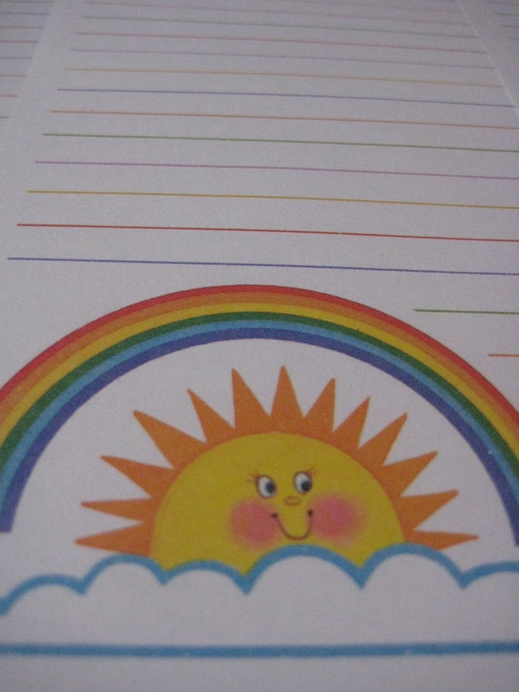 Rainbow Sun Notepad Paper
