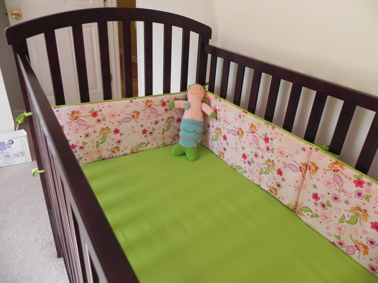 Mermaid Themed 6-Piece Crib Bedding Set With Quilt