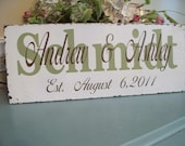 Wedding Signs,Personalized Wedding/Family name Sign..What a Beautiful sign to display on you Wedding Day.. Great Wedding Gift..