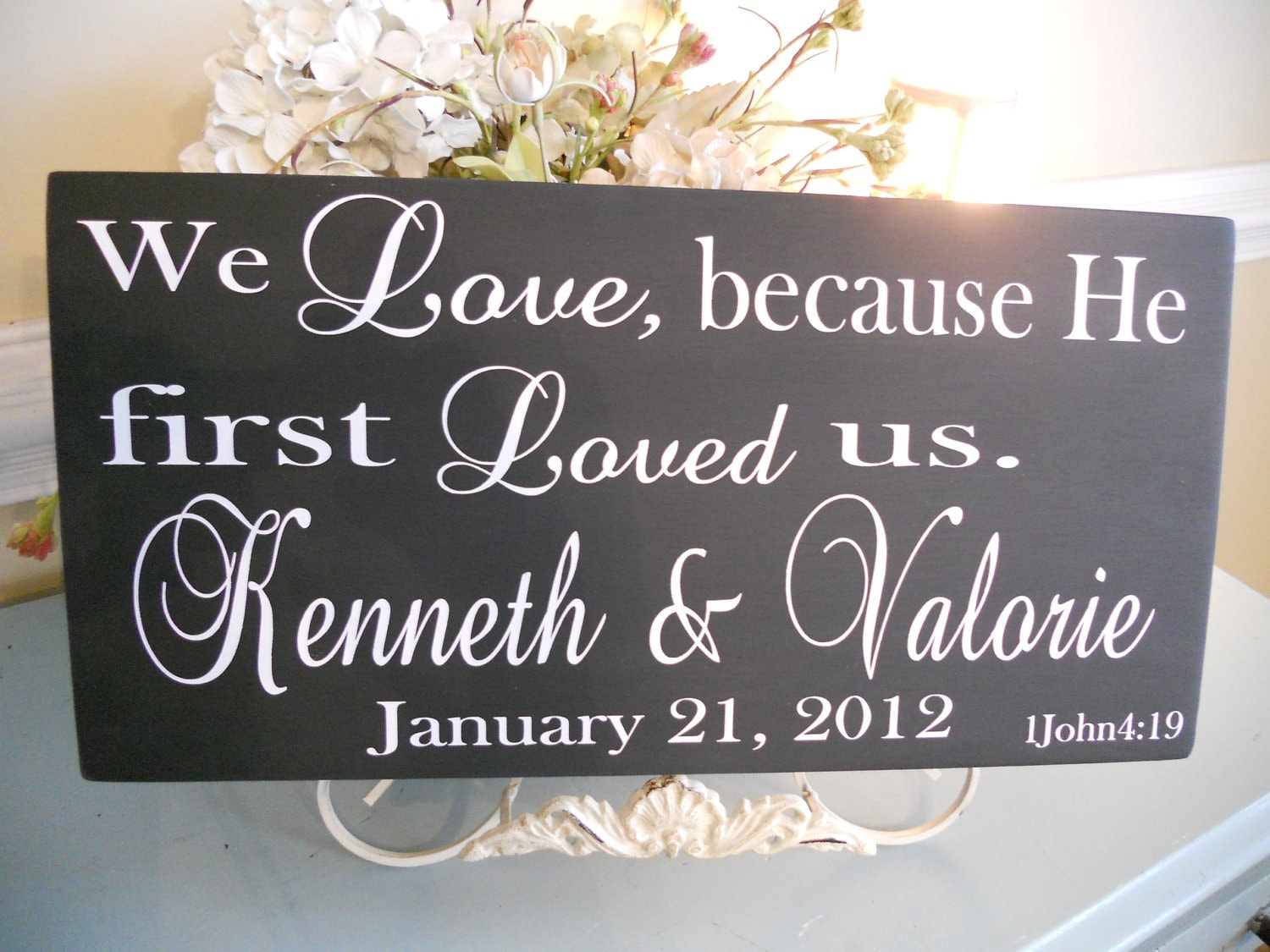 Wedding SignsReligious Personalized Wedding Family Sign With