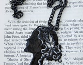 Agripinna Silhouette Necklace-lacquered, victorian inspired papercut design