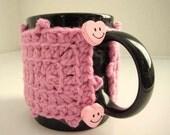 Pink Cup Cozy, Tea Mug Sleeve