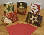 Christmas Card pack in festive red tones