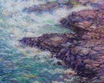 Tempest, original oil painting on canvas, 30x24