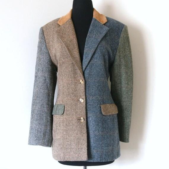 Tri-Colored Herringbone Jacket- size 6