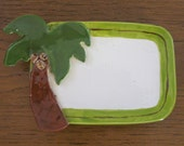Tropical soap dish, tropical butter dish, spoon rest