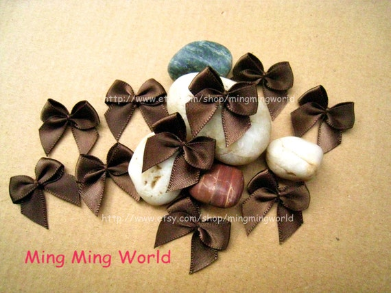 60 PCS Handmake Chocolate Brown Butterfly Knot for Altered Coutme ,Accessories, Corsage,Gift Installation.(R14)
