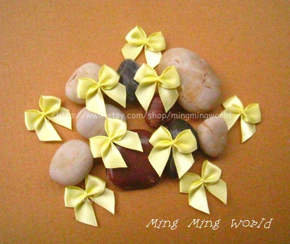 60 PCS Handmake Yellow Butterfly Knot for Altered Coutme ,Accessories, Corsage,Gift Installation.(R20)