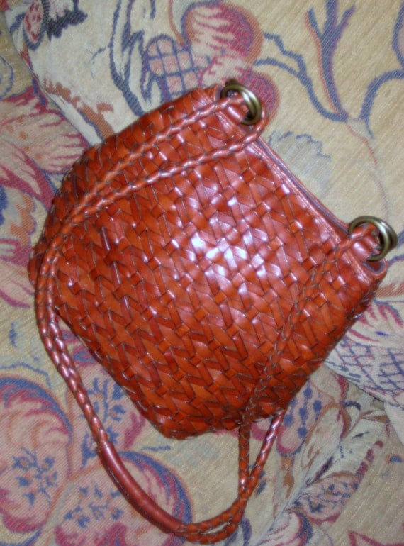 Vintage Cognac Carmel Weaved Leather Bag Dillards Just Stunning