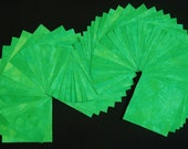 """64 Pre Cut 3"""" Fabric Squares, LIME GREEN, Hand Dyed 100% Cotton, Pre-Shrunk & Colorfast"""
