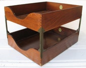 Globe Wernicke Vintage Desk Paper Box