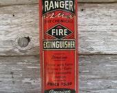 Vintage Fire Extinguisher Ranger