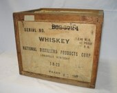 Vintage Old Sunny Brook Brand Whiskey Shipping Crate 1947