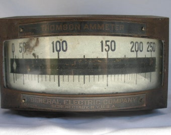 Antique Thomson Ammeter General Electric Company