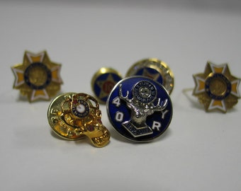 Instant Collection of Award Pins Elks Lodge, VFW