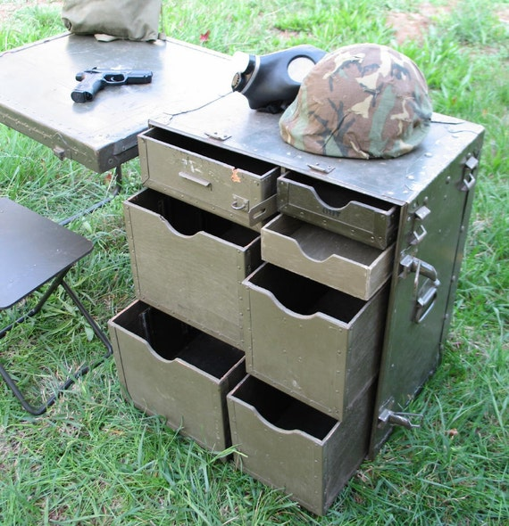 Vintage Military Field Desk US GI Issue