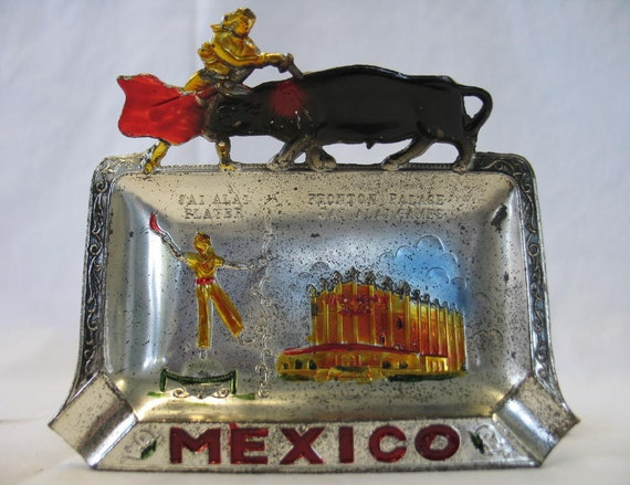 Vintage Ashtray Tijuana Mexico Fronton Palace