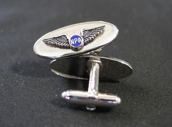 Vintage Cuff Links Pilot Wings National Pilots Association