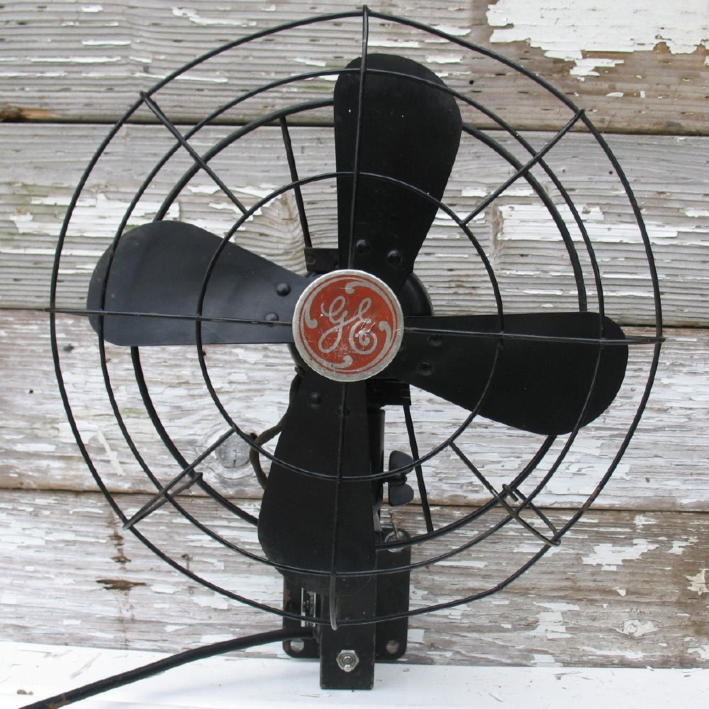 Vintage Ge Fan Wall Mounted Black