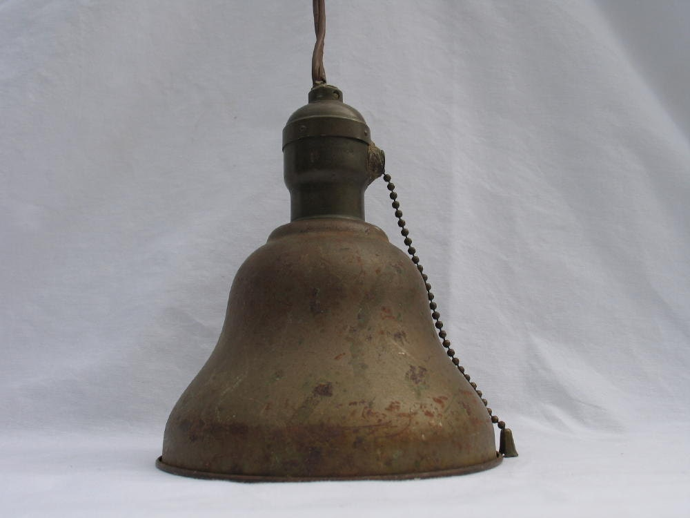 antique hanging light fixture with pull chain by ifindubuy