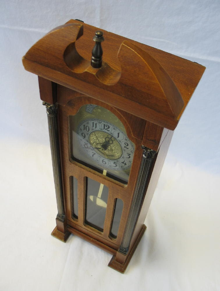 Vintage Sessions United Miniature Grandfather Clock Electric