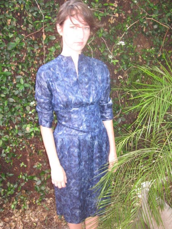 50's watercolor dress