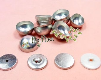 NO.40/44/50/60 - 100 Covered  Buttons  - Regular or Mushroom or Flat top - Free Shipping