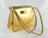 Vintage 1950's Gold leather handbag