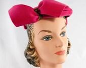 Vintage 1940s Pink Felt Camille (Toronto) Hat