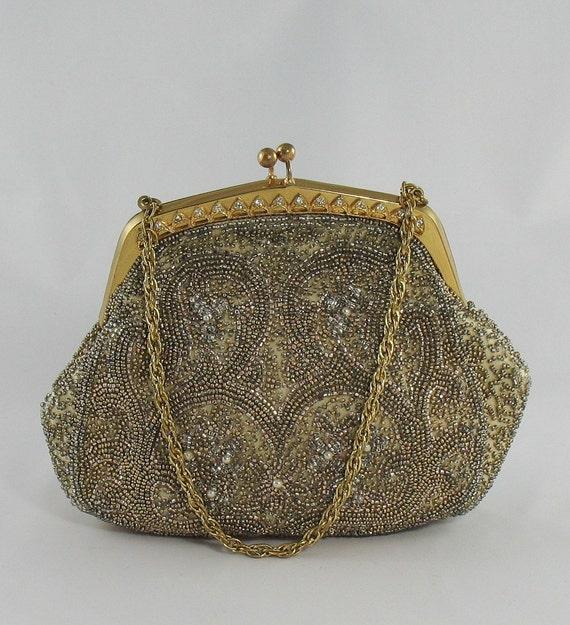 vintage 1940s walborg beaded evening bag