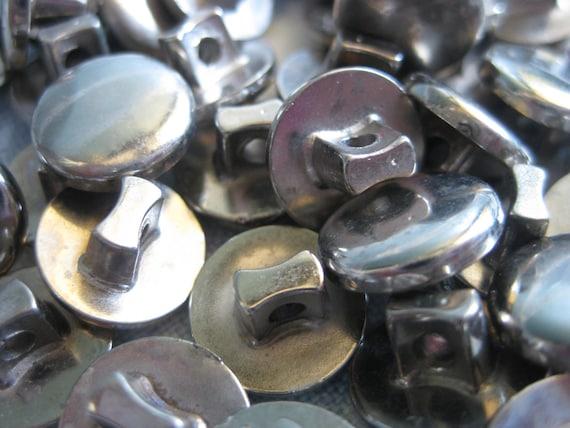 Over 50 Lot Vintage Plastic Silver Metal Buttons  Craft Supplies Supply Detash Scrapbooking