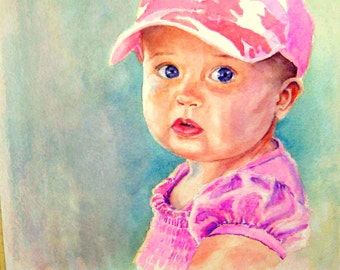 Children's Watercolor Portraits from photos