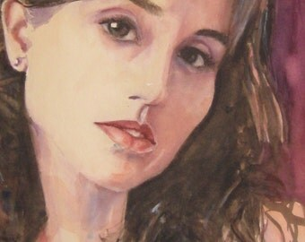 Custom Portrait in Watercolor from Photo