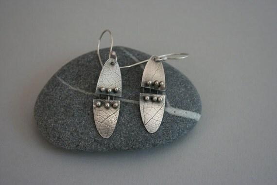 Kinetic Sterling Silver Earrings
