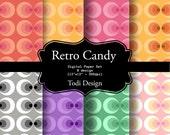 Retro Candy - I N S T A N T • D O W N L O A D Digital Paper Set
