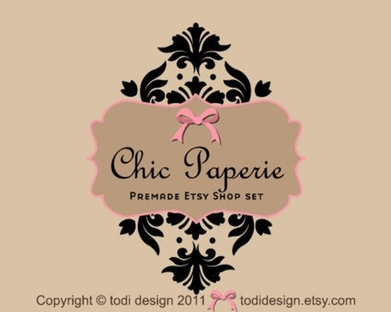 Chic Paperie - Premade Etsy Shop Banner set