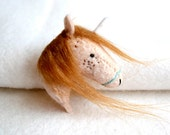 ginger unicorn - felt brooch pin