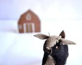 black billy goat gruff - felt goat plush soft sculpture by royalmint