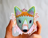 fantasy fox head sticker - art sticker