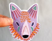 purple circus fox - art sticker