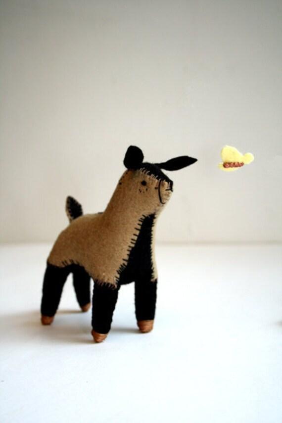 little goat kid - felt soft sculpture