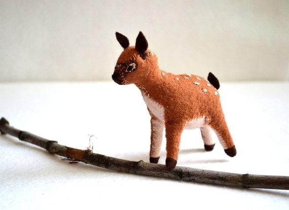 deer decor - little red deer