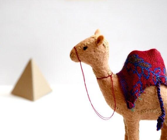king's camel - felt camel soft sculpture