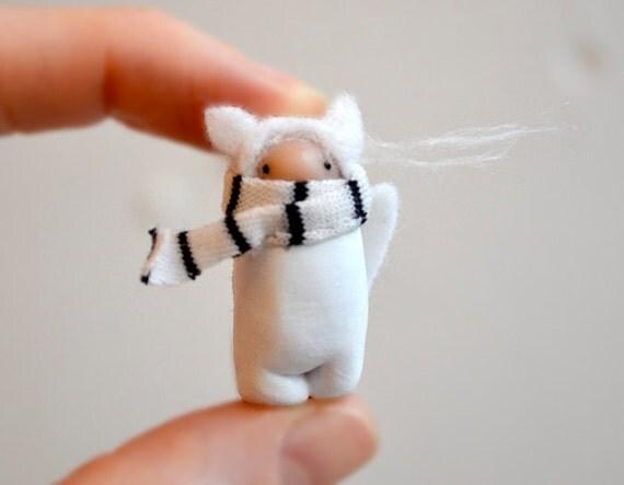 arctic fox tundra spirit miniature clay brooch pin by royalmint